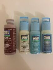 Gallery Glass Window Paint X4 Blue, Crystal, Glow-in-the Dark & Brown Stained