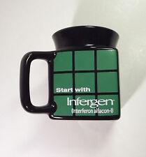 Infergen Pharmaceutical Drug Rep Logo Square Coffee Mug Rare