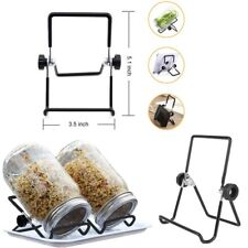 2x Stainless Steel Foldable Sprouting kit Stands Mason Jar Phone Tablet Scaffold
