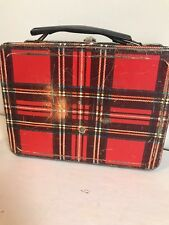 1962 Scotch Plaid Lunch Box by Universal No Thermos Vintage Rare Lunchbox Retro