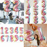 "32"" Giant Foil Number Self Inflating Balloons Birthday Age Party Wedding Decor"