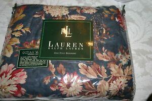 Ralph Lauren CHADWICK Blue FLORAL Ocean Wash FULL / Double Ruffled BEDSKIRT NEW