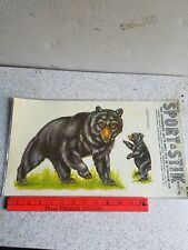 Vintage Sport-Stik Vinyl Decals Bears 10G Meyercord