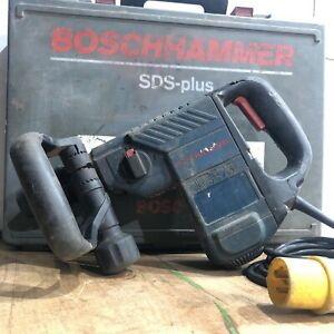 110v Bosch GBH 4 DFE SDS+ Rotary Hammer Drill - TESTED - w/ carry case & handle