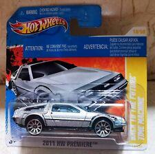 Hot Wheels BACK TO THE FUTURE TIME MACHINE 1st REGRESO AL FUTURO 2011 DELOREAN