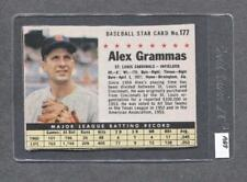 1961 Post #177 Alex Grammas (Cardinals) (AB8)  Vg  (Flat Rate Ship)  A1