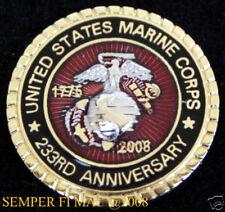 2008 US MARINE CORPS 233rd ANNIVERSARY LAPEL HAT PIN MARINES GIFT RETIREMENT WOW