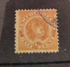 Newfoundland 1896 1/2c Dog reissue! SG62