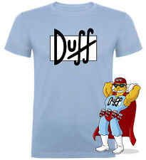 Camiseta hombre Duff Duffman Cerveza TALLA S COLOR CELESTE Envío 24hrs.