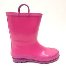 New Western Chief Girls FireChief 2 Pink/Purple Pull-On Rubber Rain Boots US 6