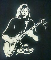 Duane Allman t shirt Skydog allman brothers vintage style blues rock sm-5xlg blk
