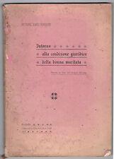 1909 Giuridica. Curiosa. Donne maritate