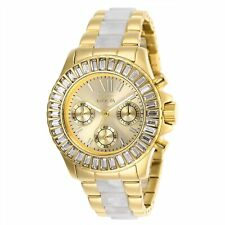 Invicta Women's Angel 27299 38mm Gold Dial Chronograph Watch