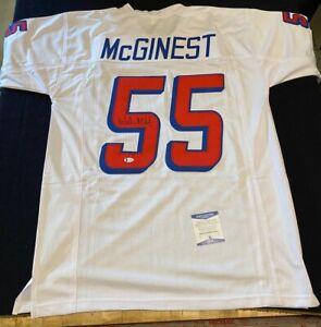 Willie Mcginest Signed Patriots Custom Jersey Size XL JSA