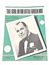 "Vintage ""The Girl In The Little Green Hat"" Sheet Music Dated 1933"
