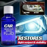 30ML Car Headlight Maintenance Clean Polish Repair Fluid Removes Scratches Tool.