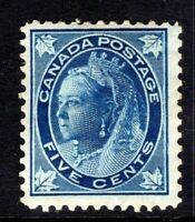 Canada 5 cent deep blue QV 1897 stamp MH SG 146 CV £70