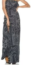 2015 NWOT WOMENS ELEMENT WHISK AWAY DRESS $55 M navy strapless ruffle front slit