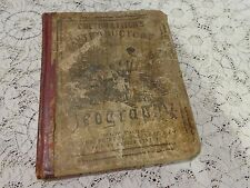 1868 Antique Book Colton & Fitch's Introductory Geography Color Maps & engraving