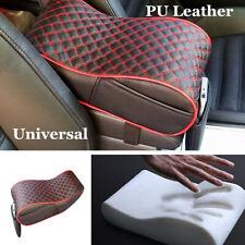 Black/Red Car Armrest Center Console Cushion Support Box Top Mat Liner w/Pocket