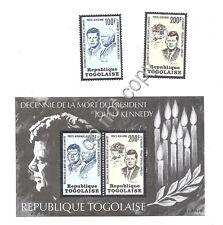 Francobolli - Stamps - Togo - Kennedy - Decennale Morte - 1973  - Nuovi (**MNH)