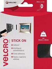 Velcro VEL-EC60215 20mm x 2.5m Brand Stick on Tape - Black