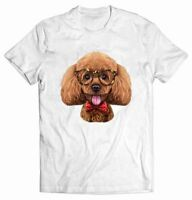 Playful Poodle Dog in Classic Eyeglass and Bow Tie - T-Shirt, Fox Republic Tee