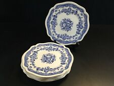 "Persian Tulip Johnson Bros Plate 8"" Set 7 Salad Plates"
