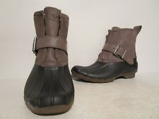 Sperry Top-Sider Womens Rip Water Rain Boots Black/Graghite Size 5 M