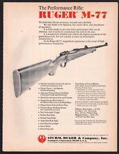 1972 RUGER M-77 Rifle AD Vintage Gun Advertising