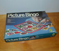 VINTAGE PICTURE BINGO GAME CHILDRENS LEARNING TOY 1984 PRESSMAN