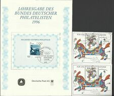 WEST GERMANY 1996 MINI SHEETS PLUS THE RARE OLYMPIC FOLDER MINT / USED