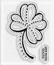 STAMPENDOUS Clear Stamp MINI FOUR LEAF CLOVER  GoodLuck