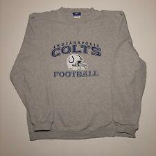 Reebok Indianapolis Colts NFL Football Long Sleeve Gray Sweatshirt Men's Size M