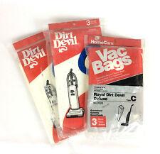 Royal Dirt Devil Type C Vacuum Bags 3 Packages 9 Total Bags