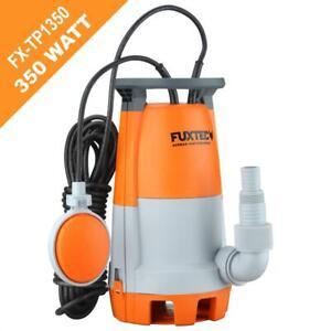 FUXTEC Schmutzwassertauchpumpe TP1350 Teichpumpe Tauchpumpe Gartenpumpe 350 Watt