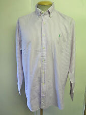 Ralph Lauren POLO men's Striped Long Sleeve Casual Shirt Size M 38-40 Euro 48-50