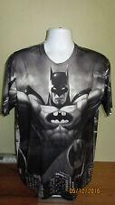 XL Batman Batsignal Gotham City Short Sleeve Shirt Front & Back