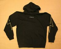 Shadow Hill Men's Original Yellow Flash Pullover Hoodie AB3 Black Large