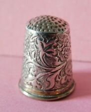 ANTIQUE SOLID SILVER THIMBLE WITH GILDED INTERIOR