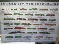 affiche les locomotives légendaires de 1995 , trains ho, kafr78