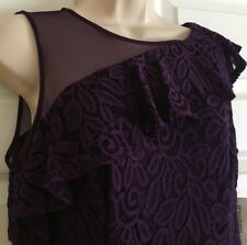 NWT Purple Lace & Net Dressbarn Ladies Size 12 P Dress