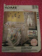 McCALL 7221 BABY ROOM ESSENTIALS Animal Farm HOME DECOR Sewing Pattern UNCUT!