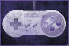 SUPER NINTENDO CONTROLLER 24X36 POSTER VIDEO GAMES SNES CLASSIC MARIO VINTAGE!!!