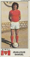 N°242 JEAN-LOUIS SAMUEL # NIMES OLYMPIQUE STICKER PANINI FOOTBALL 1977