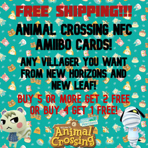 MOST POPULAR ANIMAL CROSSING NFC AMIIBO CARDS + ANY VILLAGER YOU WANT!