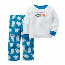 Nwt ☀Fleece☀ Carters Boys Pajamas New Mommy'S Monster 12m $22