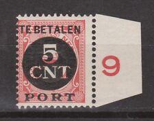 P66 Port 66 + randstrook PF NVPH Nederland Netherlands portzegel due stamp MNH