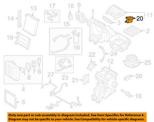 VW VOLKSWAGEN OEM 15-18 Golf 1.8L-L4 Evaporator Heater-Adjust Motor 5Q0907511
