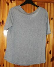 5463d01531 LADIES SHORT SLEEVE M S TOP ROUND NECK GREY MARL WITH POCKET SIZE 18 ...